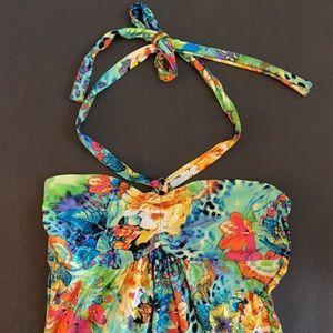 NWOT VENUS halter mini dress w/gorgeous color